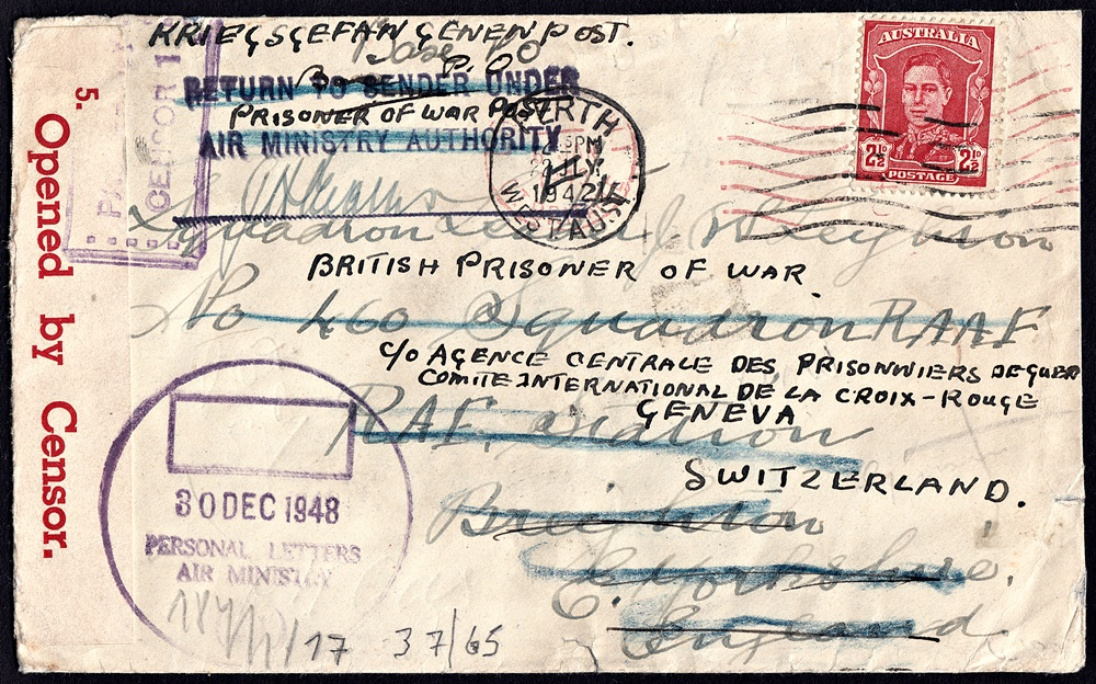THREAD (1 of 29)Story Behind the CoverIn this thread, I will look at the social history behind this postal cover to Squadron Leader John William Edward Leighton at  #RAF Station  #Breighton; from Perth, Western Australia; sent 22 July 1942. #philately  #socialhistory  #WWII