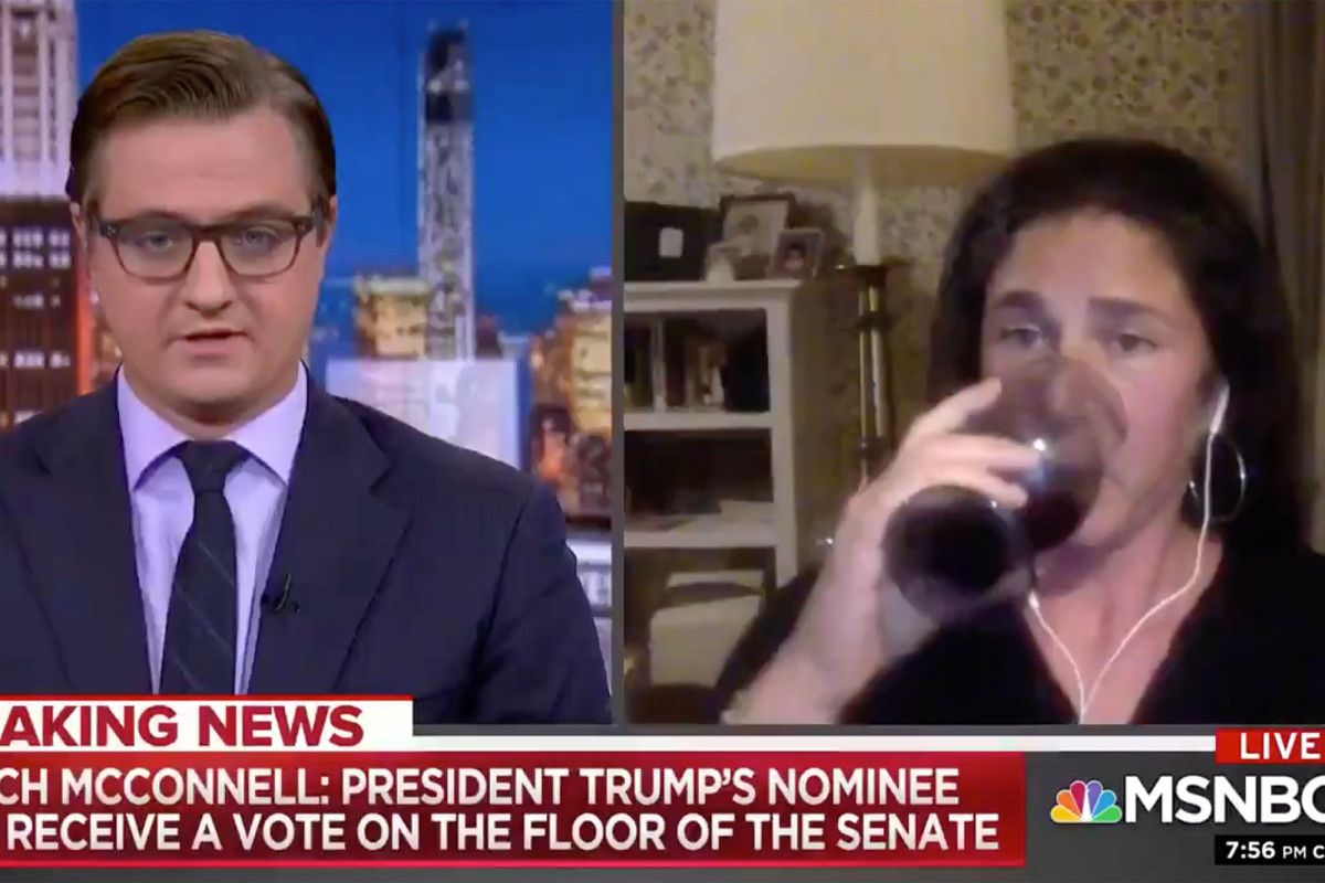 MSNBC commentator appears to drink wine on camera while discussing Ruth Bader Ginsburg https://t.co/Lazincxe0J https://t.co/4Thg7Q2MSW