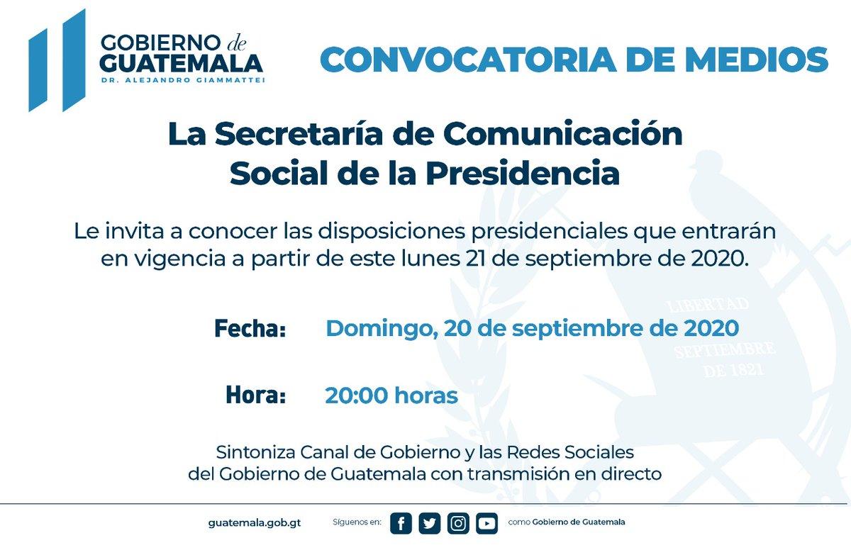 test Twitter Media - #AHORA La Secretaría de Comunicación Social de la Presidencia informa que a las 20:00 horas se darán a conocer las disposiciones presidenciales. https://t.co/39XltUgKUv
