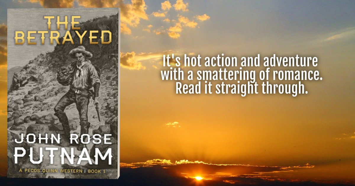 A Kindle Bestseller  Left for dead,  lost and confused,  he drank too much.  Until at last he had to know.  What happened that day along the Pecos River?  ❈THE BETRAYED❈  https://t.co/QuY1vpVpNr    FREE on #KindleUnlimited  #Western #Adventure https://t.co/t8OGp7cfA2