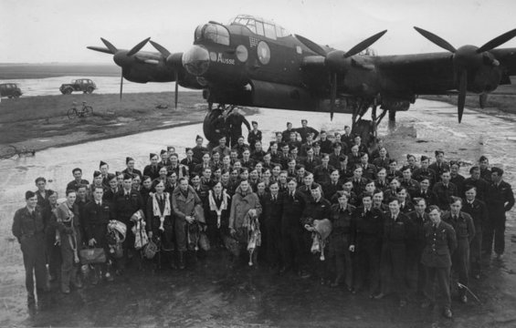 12 of 29No. 460 Squadron had been formed at RAF Station,  #Molesworth, in No. 8 Group on 15 Nov 1941. On the squadron's transfer to No. 1 Group,  #Breighton, on 4 Jan 1942, it was equipped with Wellington Mk.4 aircraft, with Squadron identification letters UV.