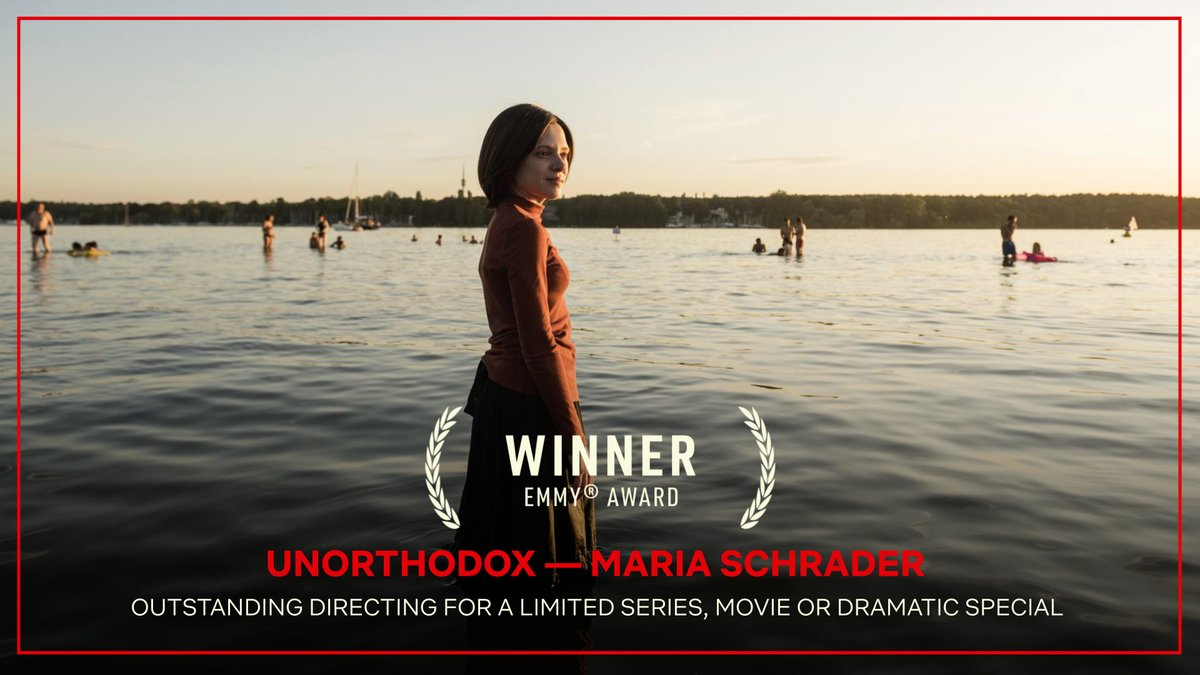 Congratulations to Maria Schrader, Director of Unorthodox — Winner of the Emmy Award for Outstanding Directing for a Limited Series, Movie, or Dramatic Special! #Emmys