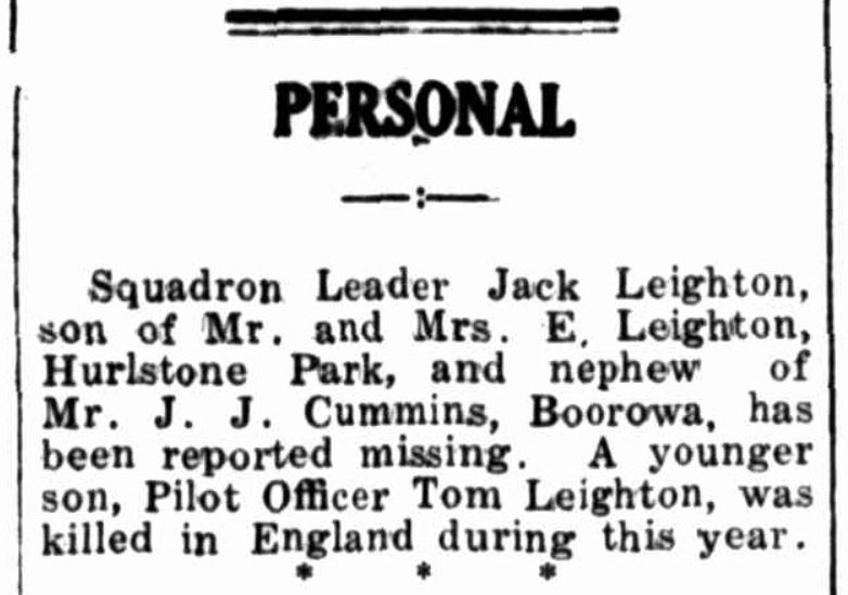 18 of 29While the International  #RedCross Committee (IRCC) began enquiries into the crew's fate, Leighton was reported missing in the Australia media on 31 Jul 1942.