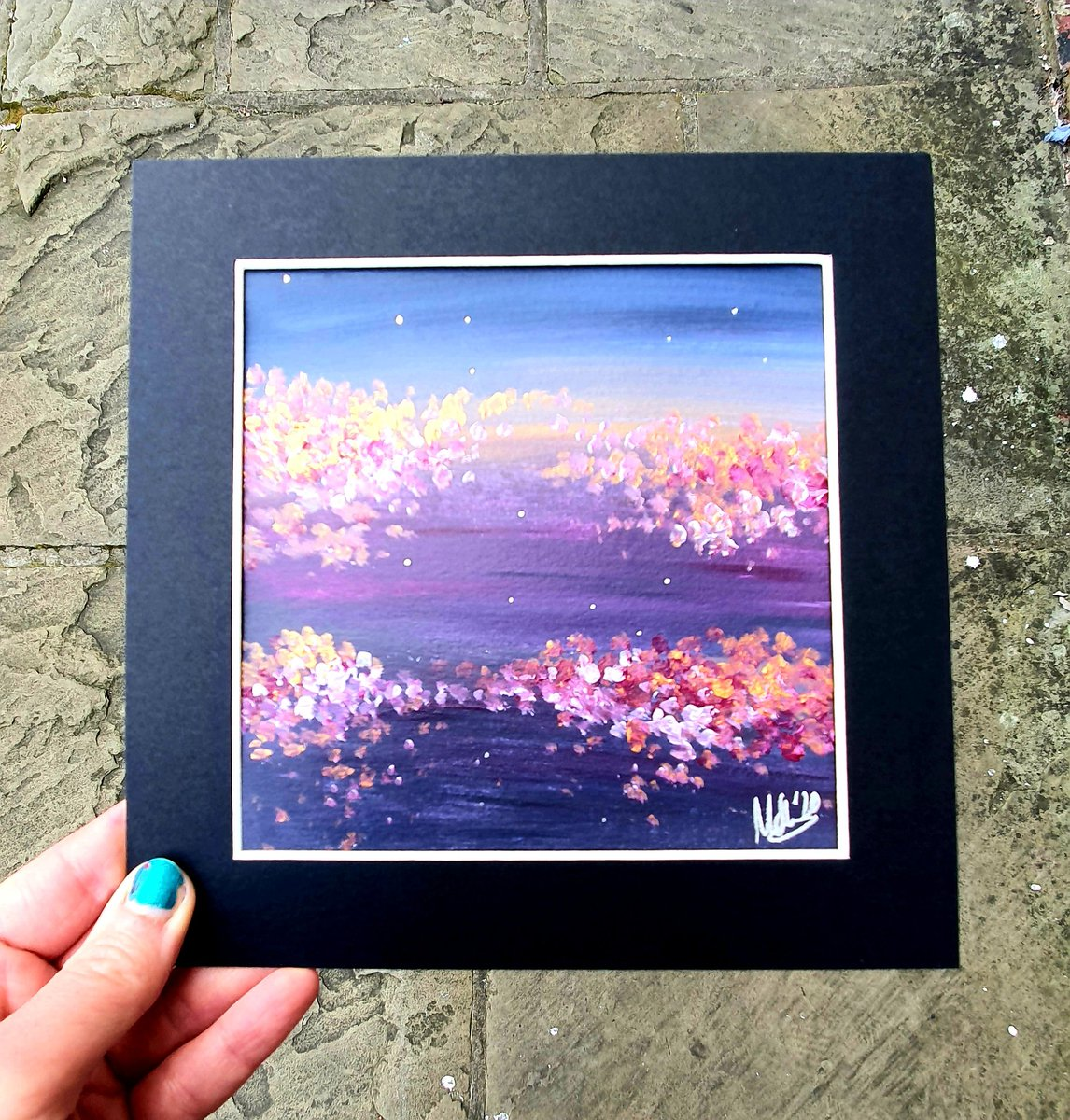 I still need to add my miniature iridescent blossom paintings to my shop, but here's one I still have available at the moment if you'd like first dibs!  #LincsArtCraftHour #lincsconnect https://t.co/9unUcEcfAN