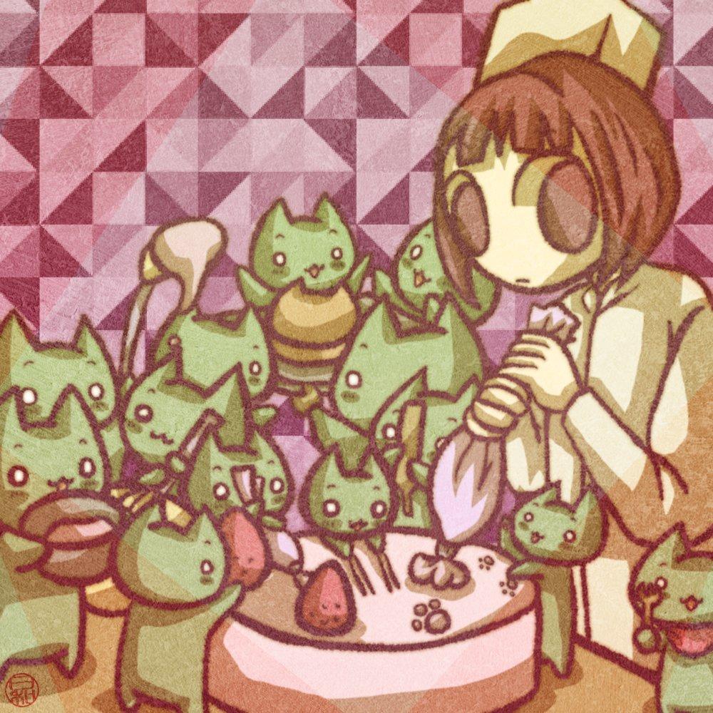 「 #洋菓子の日だよー!ねこのケーキ屋さんだよー!おいしいケーキを作るよー!」 「……帰ってこい食品衛生法」 https://t.co/qMFYT48ihN