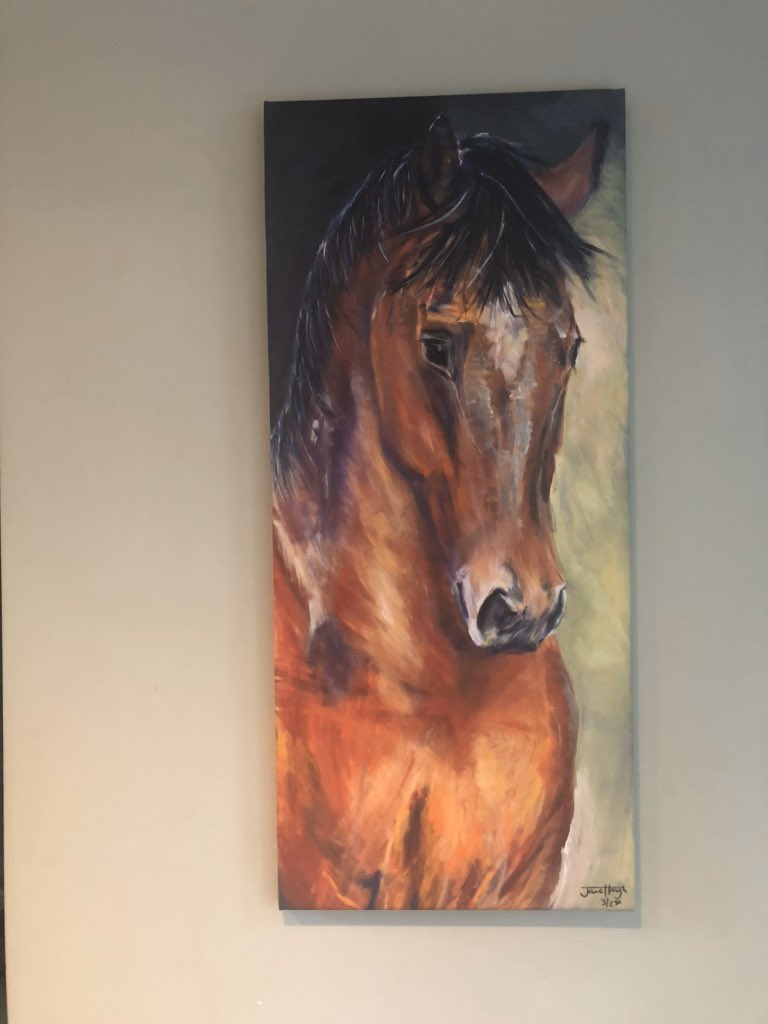 Hi #LincsArtCraftHour I hope everyone is well, Martin suggested I post a few of my paintings. I paint animals, mostly, but over lockdown have moved to oil painting humans too. #art #portraits #commissionedart https://t.co/zrIJDJG7j3