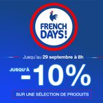 Image for the Tweet beginning: FRENCH DAYS 🔵⚪🔴  -10% sur