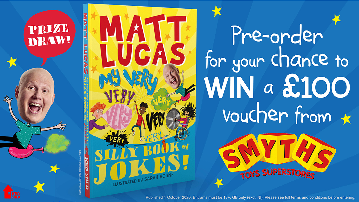 Don't miss out on your chance to WIN a £100 voucher from @SmythsToysUK by pre-ordering the hilarious new joke book by @RealMattLucas for children aged 6+   Enter at https://t.co/2eOAsIcfGZ   Competition closes on 23:59 GMT 30th September https://t.co/8eb8n1hnBe