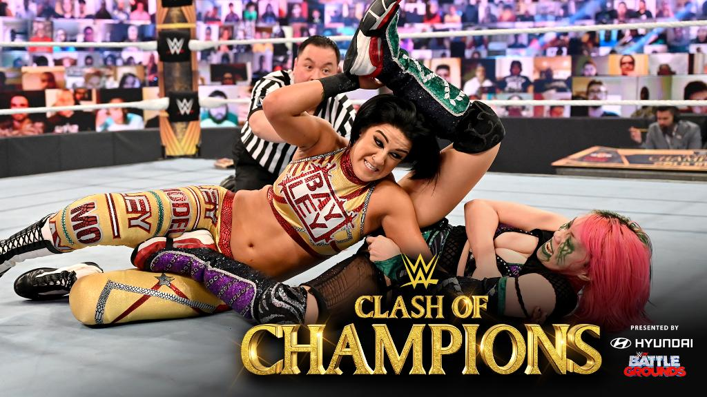 #SmackDown Women's Champion @itsBayleyWWE was looking for a fight and got #WWERaw Women's Champion @WWEAsuka, along with an old 𝒻𝓇𝒾𝑒𝓃𝒹. #WWEClash ➡️ https://t.co/g9fgYPrCzX https://t.co/MhsdGAtsD4