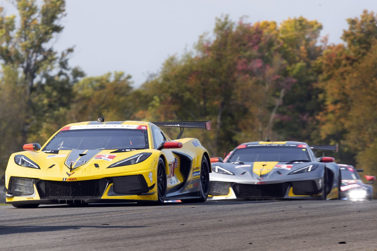 STAND ON IT MONDAY. @CorvetteRacing delivers a 1-2 in GTLM at Mid-Ohio yesterday. 1. @AntonioGarcia_3 and @jordan10taylor  2. @olivergavin and @TommyMilner Corvette has the #GTLM points lead in Manufacturer, Driver and Team standings.  (Photo by Richard Prince) https://t.co/p2vR6MxmxJ