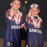 This is Nathan Cleary and Kyle Flanagan as Roosters ball boys in 2005.  Checkout the story https://t.co/xqSC5oTPXk