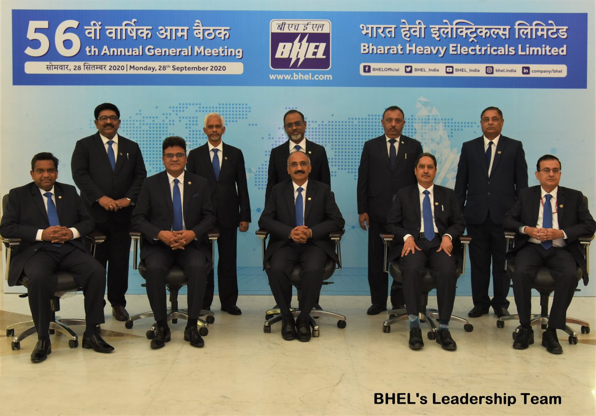 CMD, BHEL, Dr. Nalin Shinghal addressed shareholders through video conferencing, at the company's 56th Annual General Meeting in the presence of the Board of Directors of the company in New Delhi today. @PrakashJavdekar @arjunrammeghwal  @heindustry #BHEL #AGM https://t.co/5fFmBhmUqP