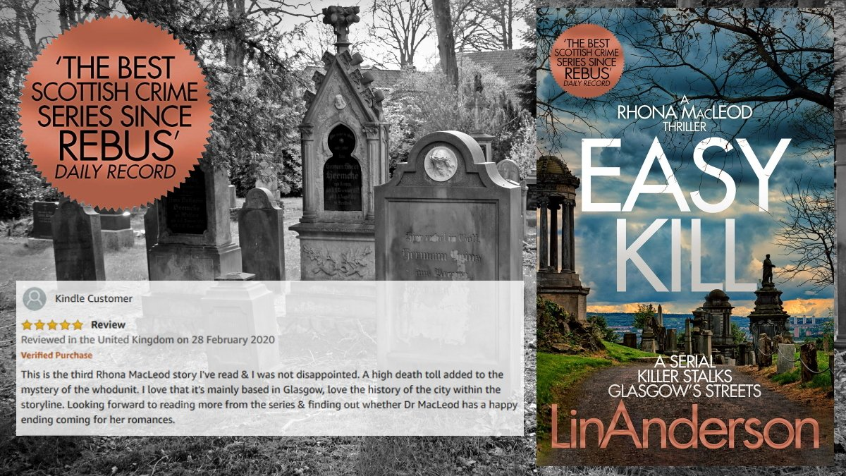 EASY KILL ★★★★★ ' I love that it's mainly based in Glasgow, love the history of the city within the storyline. Looking forward to reading more from the series' https://t.co/yCucUU3uYE  #CrimeFiction #Thriller #CSI #Glasgow #LinAnderson #BloodyScotland #IARTG #KU https://t.co/2wfgc9MyvG