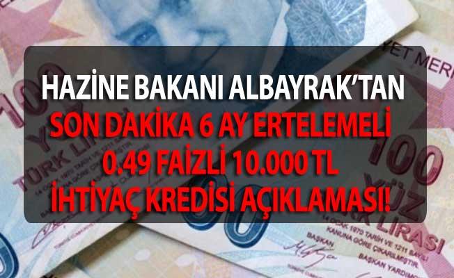 Hazine ve Maliye Bakanı Berat Albayrak'tan Ziraat Bankası, Halkbank, Vakıfbank 6 Ay Ertelemeli 10000 TL 0.49 Faizli Temel İhtiyaç Desteği Kredisi Açıklaması Geldi!  Haberin Tamamı İçin: https://t.co/HYju53UnRA https://t.co/GJwZpvaP1w