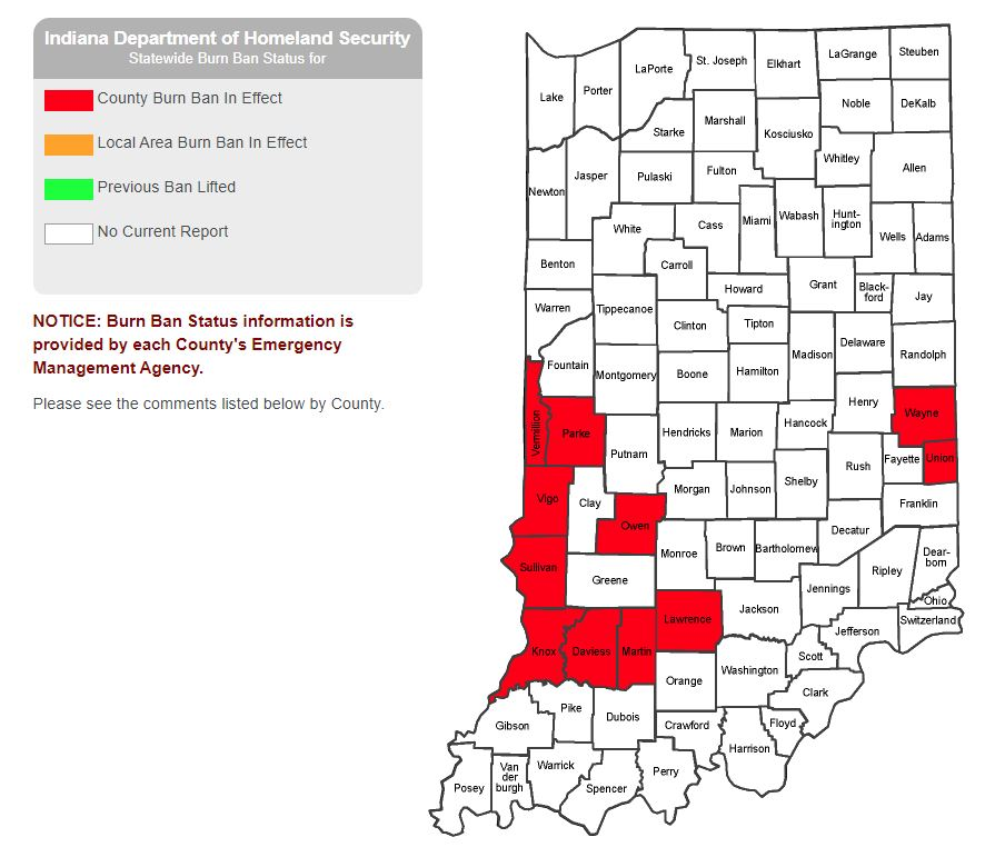 """Burn Bans are expanding across western and southern Indiana, as #drought conditions continue to spread. #Indy is sitting at #1 driest September on record with only 0.04"""" of rainfall so far. #INwx #AGwx https://t.co/eYrglrnsGJ"""