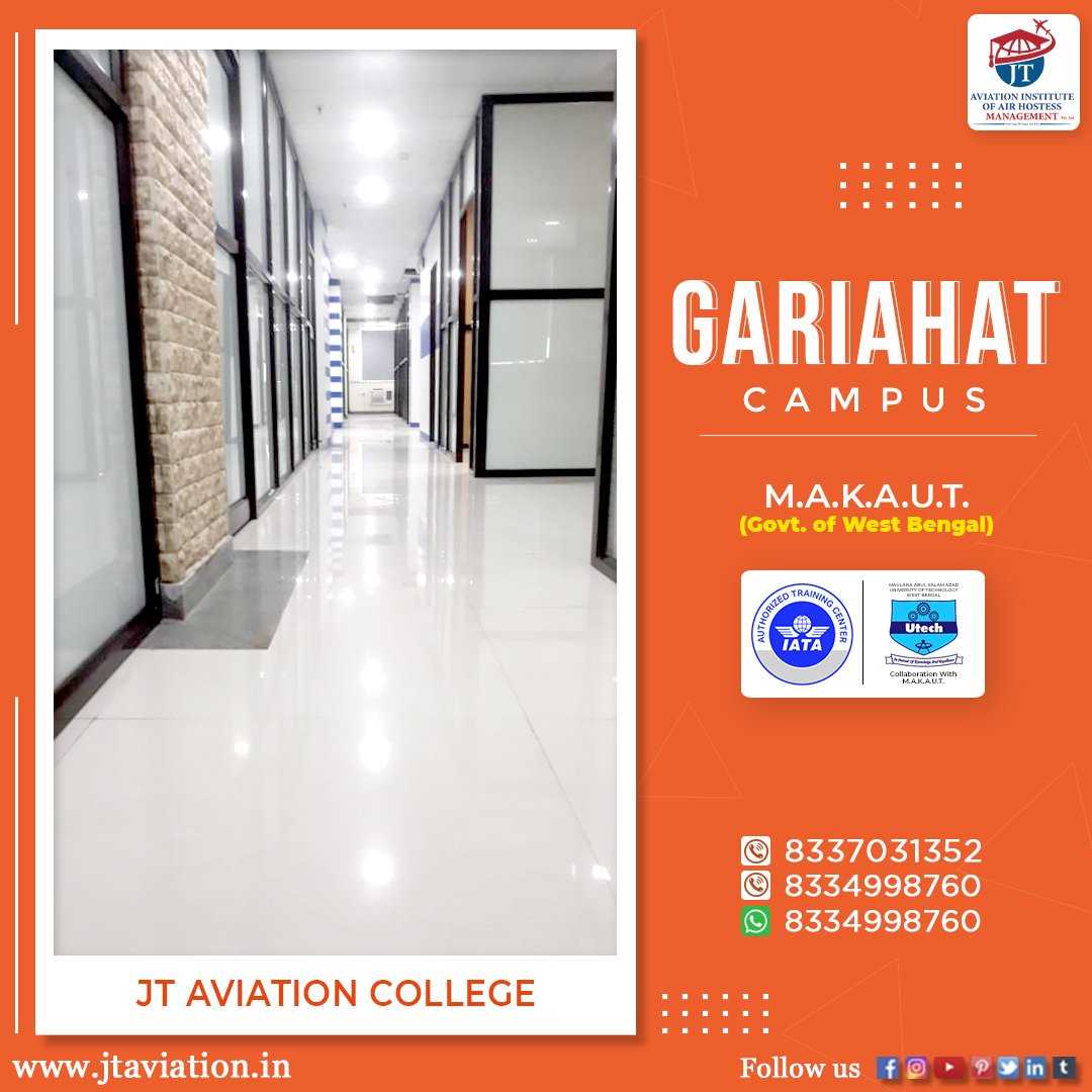 Join JT Aviation College! online registration is now open. Hurry! join us today. 📚✈🎓🌏👩‍✈👨‍🎓 ✅ Log on to: https://t.co/0aiEyhsJR2 👈 ✅ Visit IATA: https://t.co/4pyLWiELje 👈  #IATA_Authorized #MAKAUT_Govt_of_Westbengal #aviationlife #career #placement https://t.co/Bf3xNcAaQw