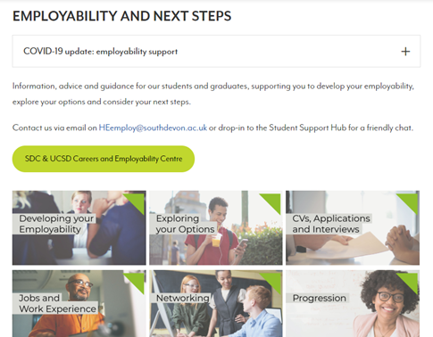Welcome to new & returning students this week! We've been working on our Employability & Next Steps online resources, so you can now find dedicated info and advice on exploring your options, writing applications and more on our website. https://t.co/0cfVGbzUtY https://t.co/dIs6MfSY0h