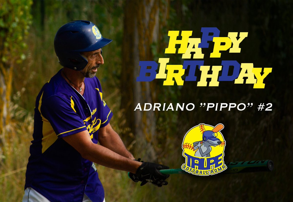 Happy b'day to our slugger Pippo #2! Auguri! 💛💙🥎🎉🎂 #LuxRoma #Talpe #softball #Roma #teammates #bday #birthday https://t.co/JhV0tjde5t