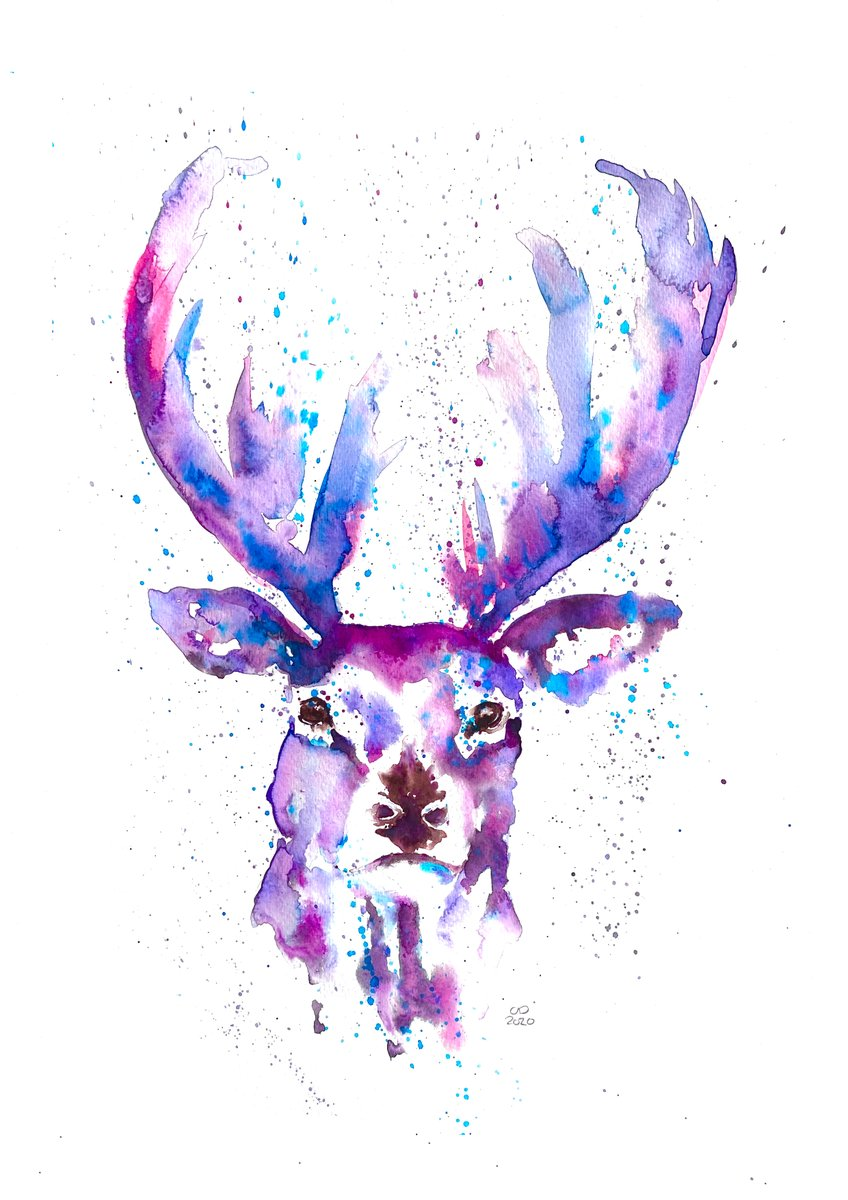 Which do you prefer? I can't decide which of these two stags I like the best. The bright one is available to buy as a print here👉https://t.co/Vq2EPbLbS0, should I add the other to my #etsyshop too? #LincsConnect #LincsArtCraftHour #wildlifeart #stag #giftideas https://t.co/60tiW7F3Kv