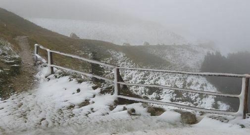 Prima neve questa mattina sul Pizzoc https://t.co/...