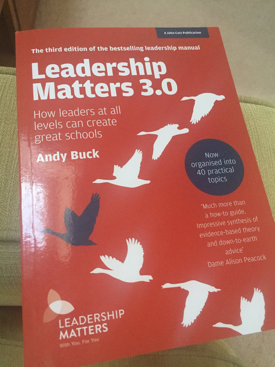 Having really enjoyed @MaryMyatt #BackonTrack I'm going to delve into a leadership book next. #LeadershipMatters @Andy__Buck https://t.co/QRLTDRwqe3