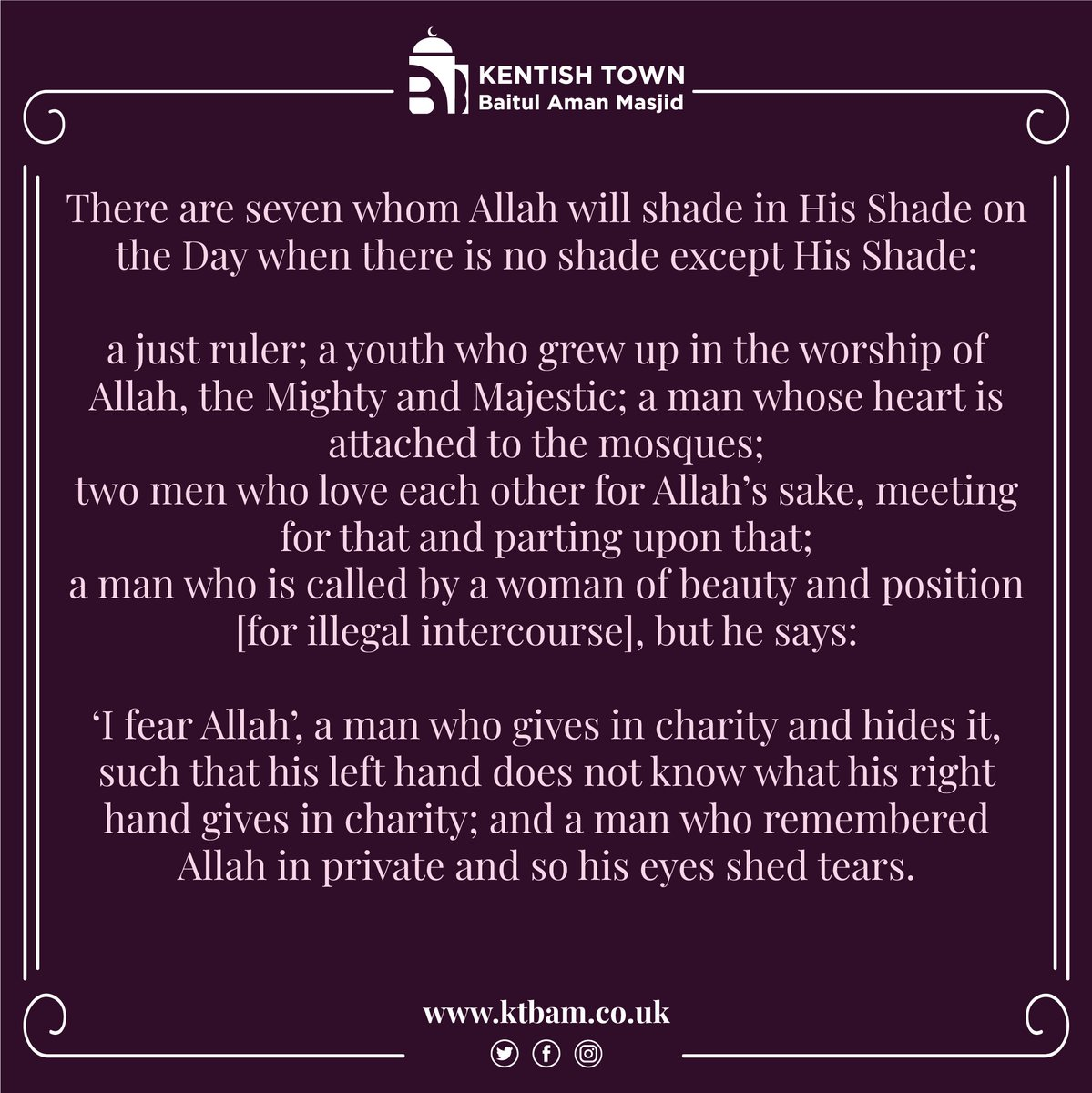 ⭐⭐⭐ . . . #ktbam #charity #goodwords #prophet #mosque #forgivness #muslim # islam #Allah #messenger #Ramadhan #love #your #brothers #faith #purity #peace https://t.co/vCxu1fEoLA