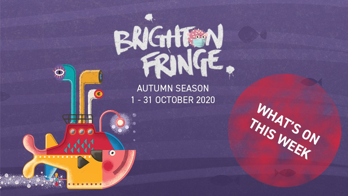 🎭 What's on this week? 🎭 Brighton Fringe performances are BACK. To see what we've got on this week, click here: https://t.co/tlQgqhlQ14  #fringe #brighton #brightonfringe #liveperformance #tickets #comedy #theatre #tours #exhibitions #music #nightlife #venues https://t.co/q6yGwrXDOv