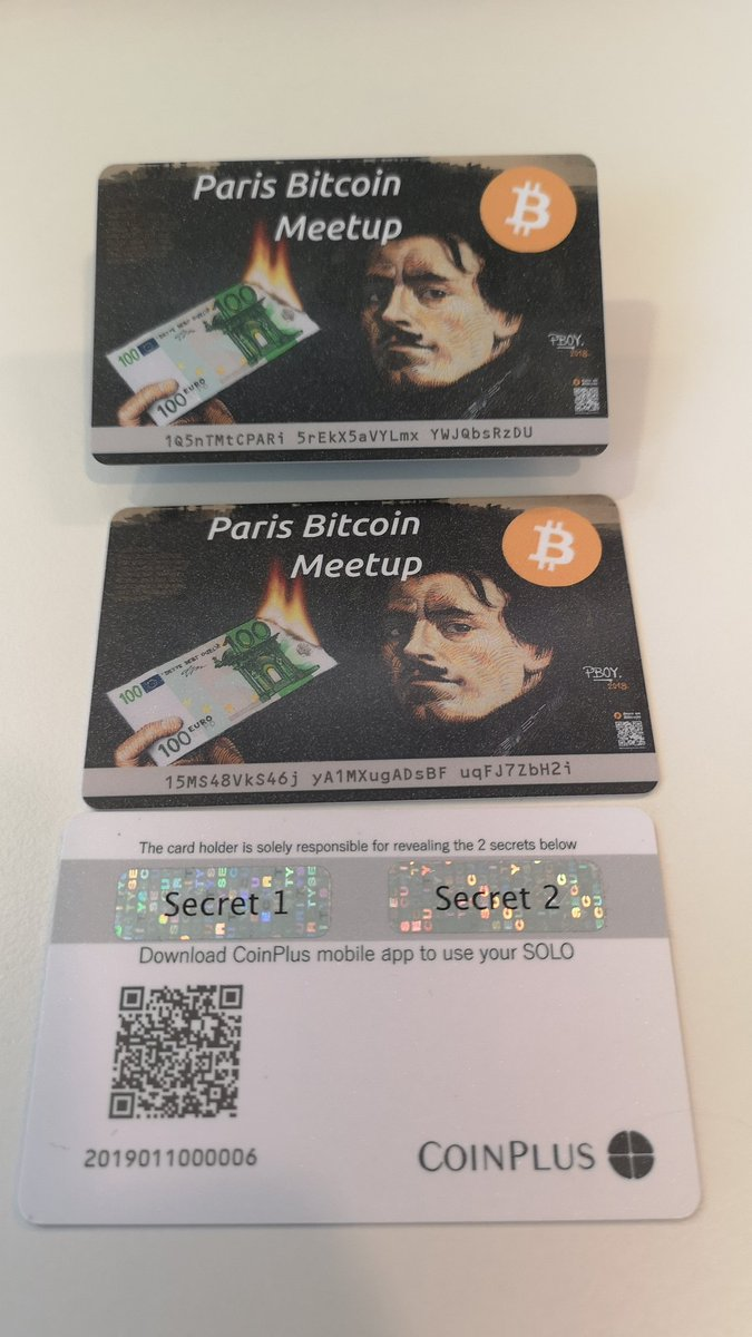 Happy to have done this wonderful #collectible #wallet with @Adrian_Sauzade #ParisBitcoinMeetup thanks to @pascalboyart It's not a #commercial item. https://t.co/OMlLBTP3Jk https://t.co/VJOs7ymjcm