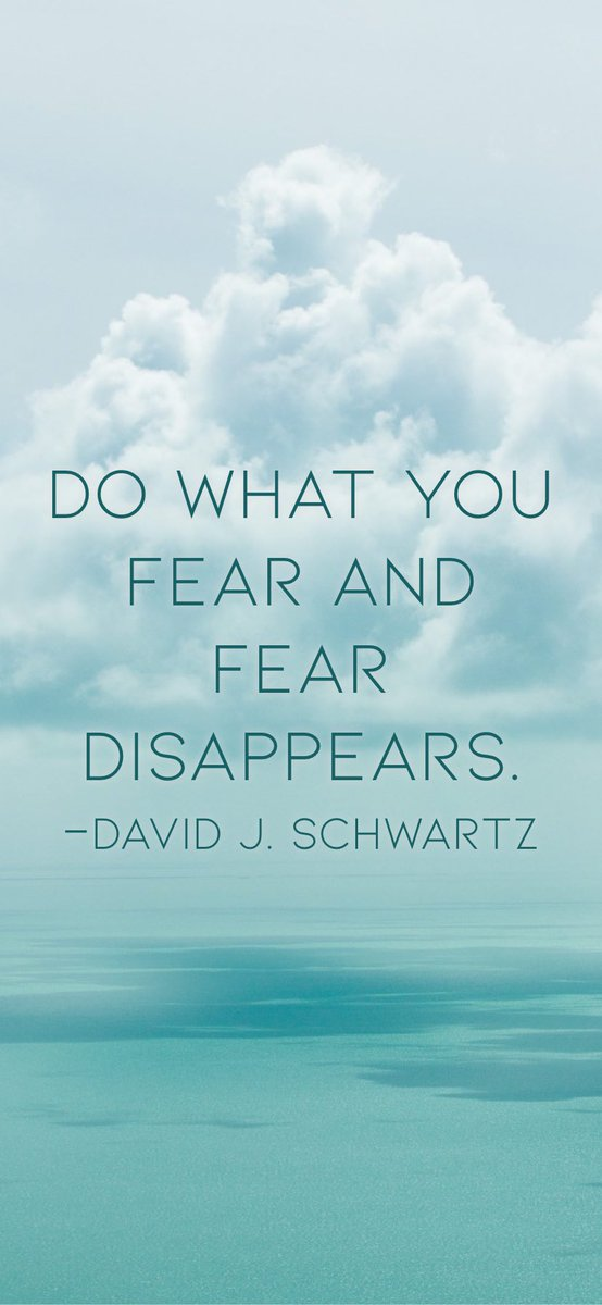 Monday Motivation | Do what you fear and fear disappears. -David J. Schwartz  #motivation #quote #MondayMotivation #Referees #positivity https://t.co/TBfopNYQRB