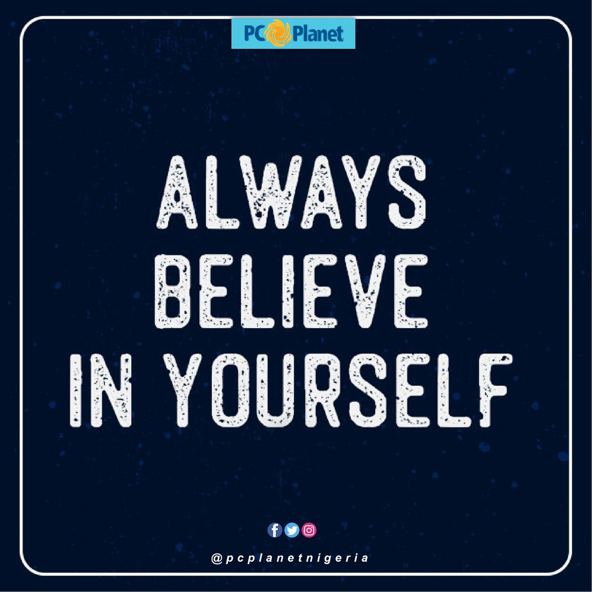 Always believe in yourself at all times. Call: 08140000114 https://t.co/k6JvKhs229 #pcplanetnigeria #phone #laptop #lenovo #hpprinter #dell #acer #asus #printer #apcups #Xboxone #apple #iPad #macbookpro #samsung #iPhone #Infinix #tecno #huawei #gionee #nokia #MondayMotivation https://t.co/YJEI7kUH8k