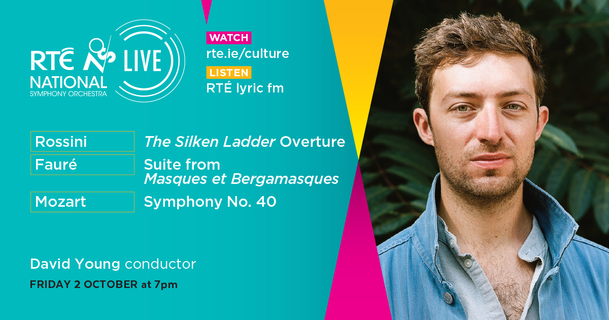 A sparkling operatic overture, playful and poetic theatre music and a mighty symphony by Mozart: all yours for free this Friday at 7pm! David Young conducts. WATCH in HD via @RTE_Culture and LISTEN on @RTElyricfm. https://t.co/TFM6rPg5FZ