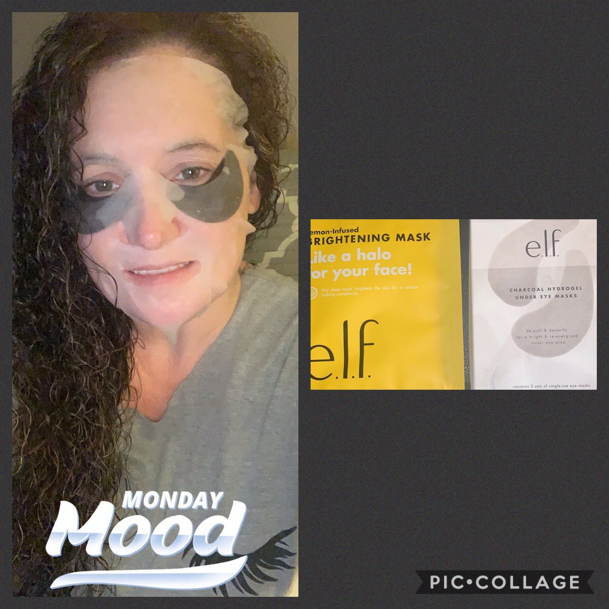 Good Morning My Beauty's💕💕 I started my day off with this  #Elf #LemonInfused #Brightening #FaceMask  & #Elf #Charcoal #Hydrogel #UnderEyeMasks Ill be going live shortly to do my 26th Look Of The 30 Day OF palettes So If y'all arnt busy pop in and hang out💕💕 https://t.co/TjKjnS7QMz