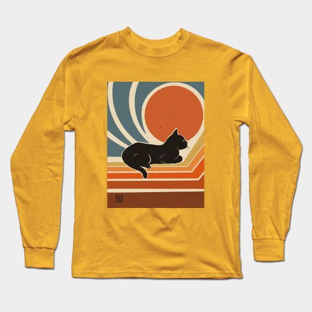 🐱✨Evening time - Cat - Long Sleeve T-Shirt   TeePublic NOW ON SALE!!  Click to Shop >> https://t.co/dNxG4Oql5Q  @TeePublic #TeePublic #cat #猫 #kitty #blackcat #黒猫 #くろねこ #tshirts #clothing #Tシャツ #Apparel #アパレル https://t.co/yShB1fwYGU
