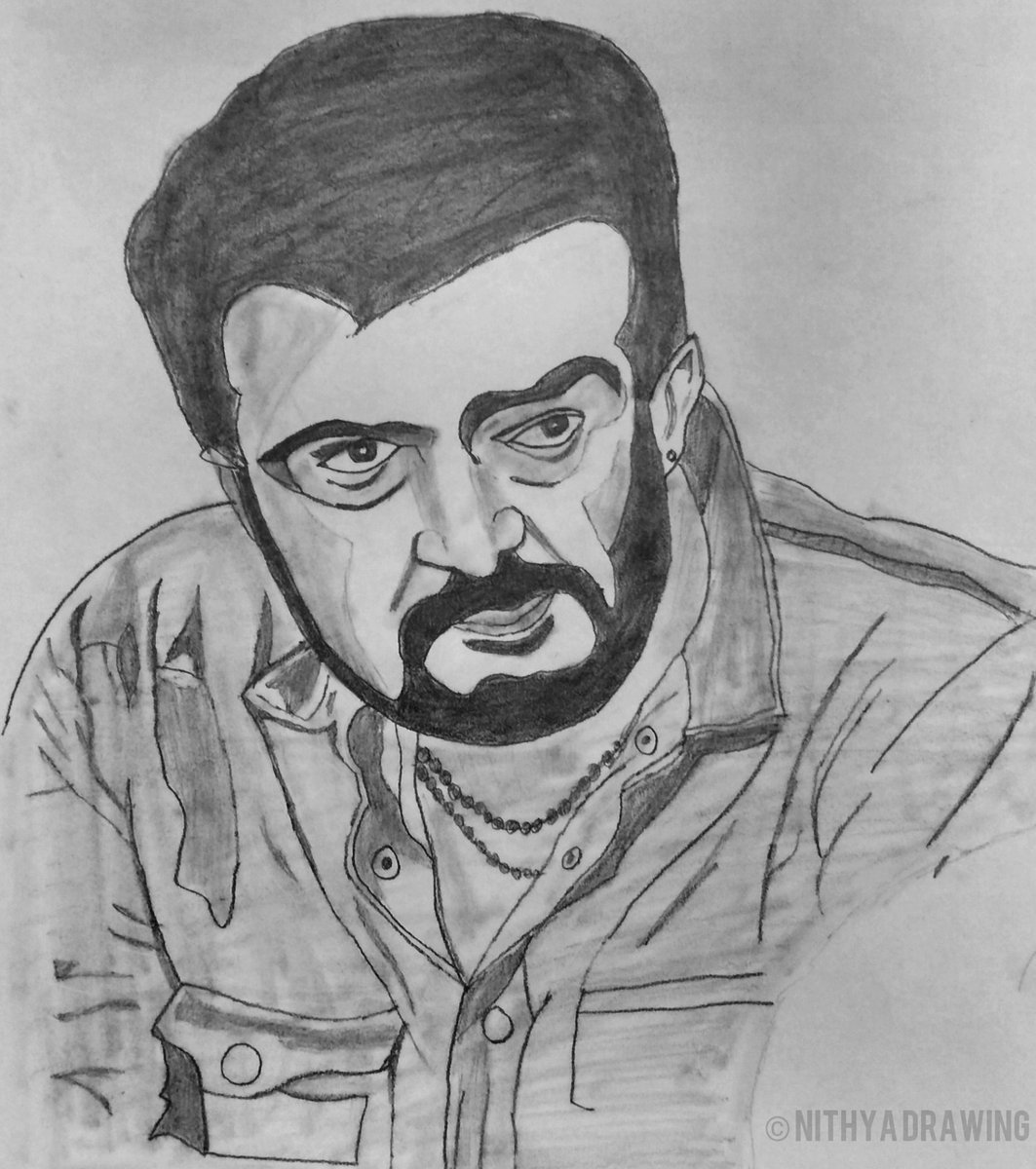 Here's the fan-made art for our ThalaAjith, Fans ♥️ Do Watch & Share Max!!  Video Link - https://t.co/uwQhqVITZC  Done by @NithyaDrawing  #Valimai #ThalaAjith #NithyaDrawing @SNithyaOfficial #ThalaAjithDrawing https://t.co/aOMlVBviOl