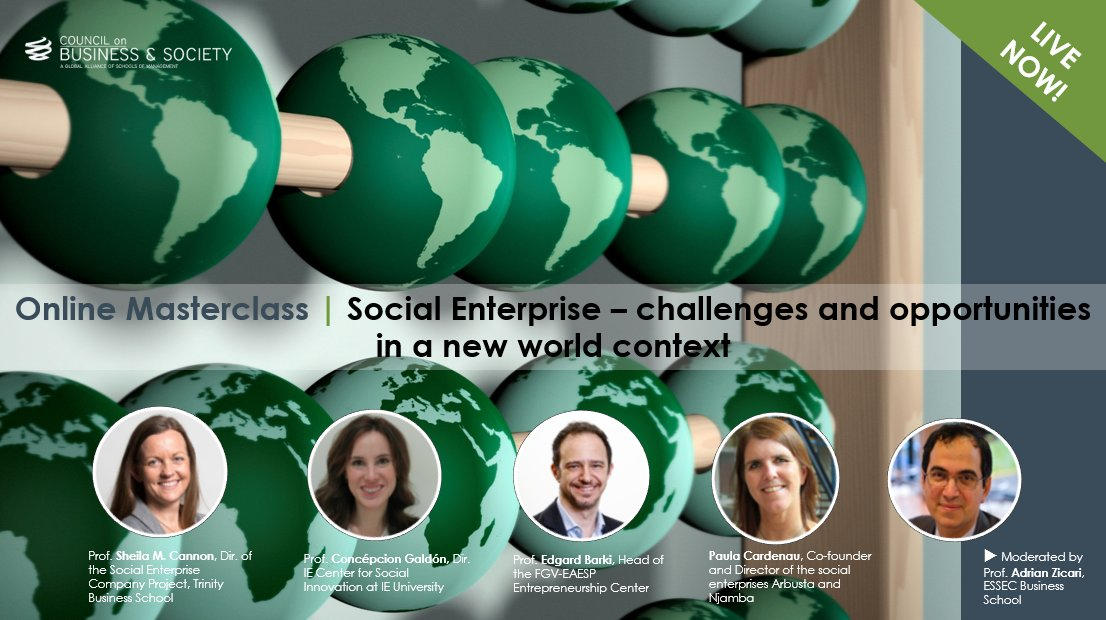 ⏰  LIVE NOW! An @The_CoBS #Online Masterclass 👉 https://t.co/Ly4VGlWYGS on #YouTube #SocEnt #Entrepreneur #socialimpact https://t.co/ucsE3LCZTO