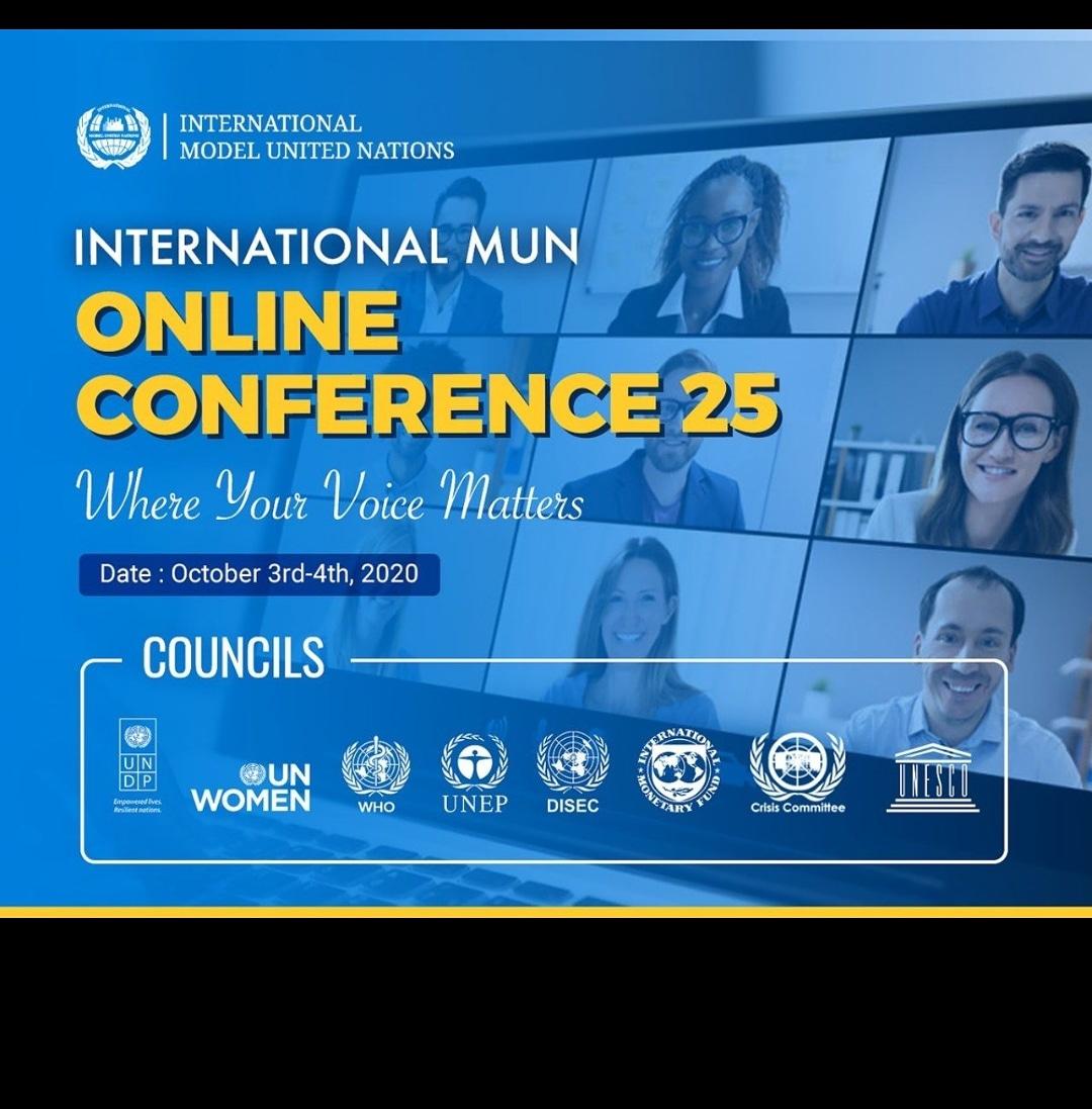 #InternationalMUN #mun #imun #modelunitednations #imun2020 #youth #globalopportunity #opportunity #conference #international #internationalconference #diplomacy #leaders #youngleaders #unitednations #un #munconference #online #onlineconference #onlinemun #webinar https://t.co/mHDkKIx4Yd