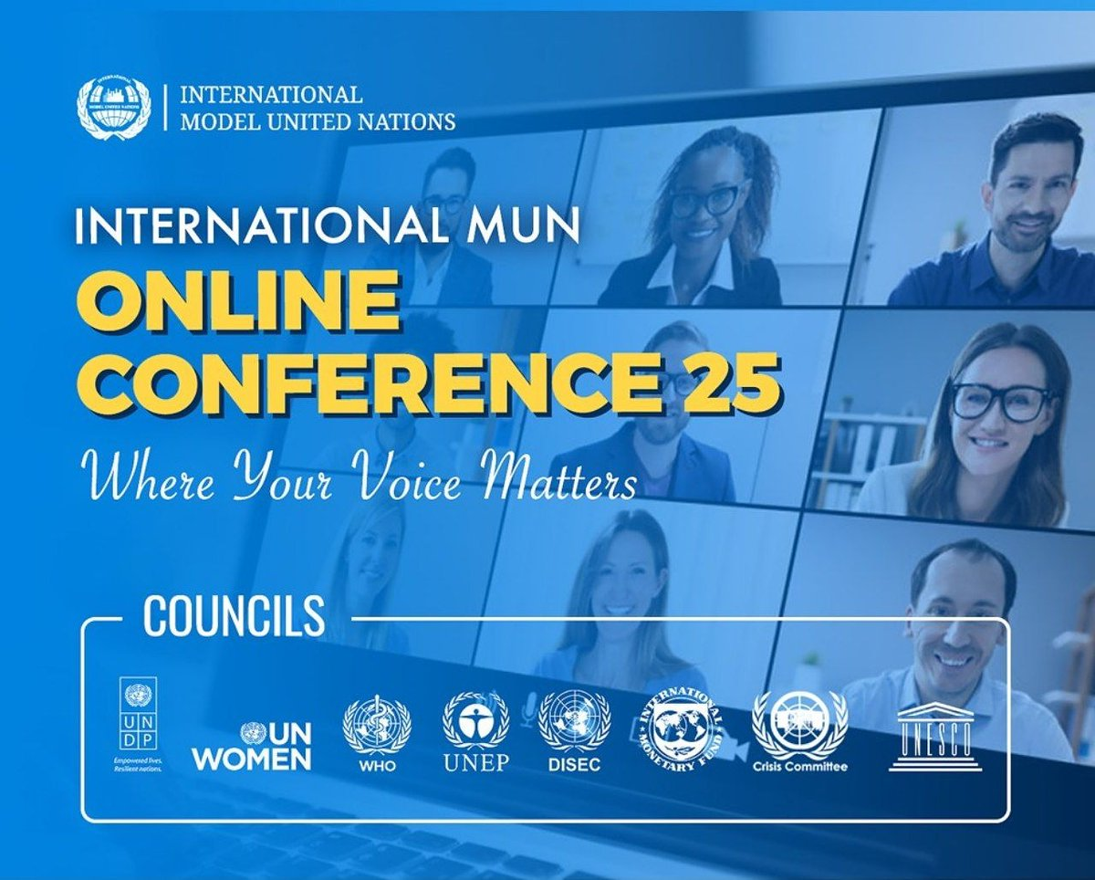 #InternationalMUN #mun #imun #modelunitednations #imun2020 #youth #globalopportunity #opportunity #conference #international #internationalconference #diplomacy #leaders #youngleaders #unitednations #un #munconference #online #onlineconference #onlinemun #webinar https://t.co/rfpasbTVCn