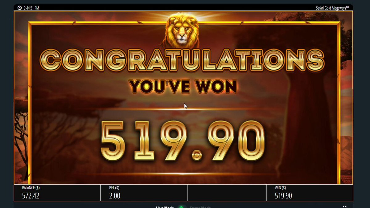 So this just happened off a $40 Safari Gold Megaways buys!!  #bigwin #duelbits #OnlineSlots #win #PRINTING https://t.co/jfKCCrR5gd