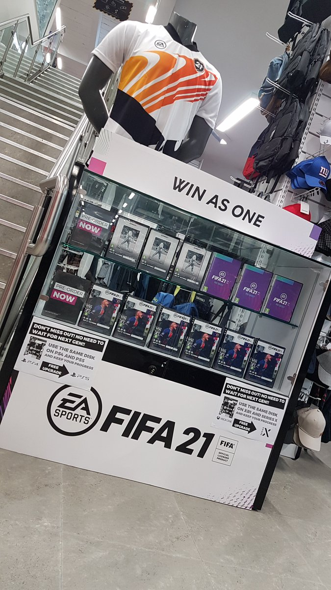 We are still taking orders on all editions including the special edition #FIFA21 jersey!   Secure your copy today for as little as...  ⚽️ Standard - £5 ⚽️ Champion - £10 ⚽️ Ultimate - £20  Buy on current gen to get straight into the action and upgrade to next gen for FREE! https://t.co/BDjoIZWAPX