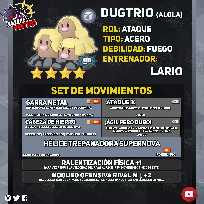 Dugtrio Alola Pokémon Masters EX