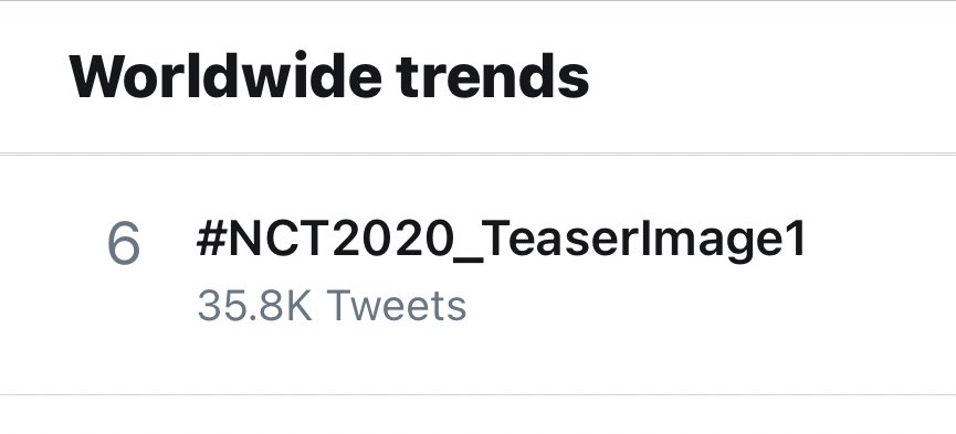 #NCT2020_TeaserImage1 is already trending #6 worldwide!  Keep using the tags and make sure to mention each unit's Twitter account!  @NCTsmtown @NCTsmtown_127 @NCTsmtown_DREAM @WayV_official https://t.co/Uy1e1wKo5h