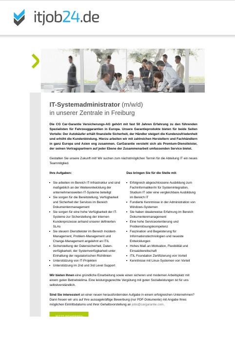 https://t.co/p79XnJtneL -Stellenmarkt für IT-Spezialisten -   SAP Anwendungsbetreuer SD/MM/CS (m/w/d)  IT-Systemadministrator (m/w/d) in #Freiburg im #Breisgau  gesucht von CG Car-Garantie Versicherungs-AG  https://t.co/VfihX8jo0Y  #stellenbörse #jobs #IT https://t.co/nmxCUYbIQd