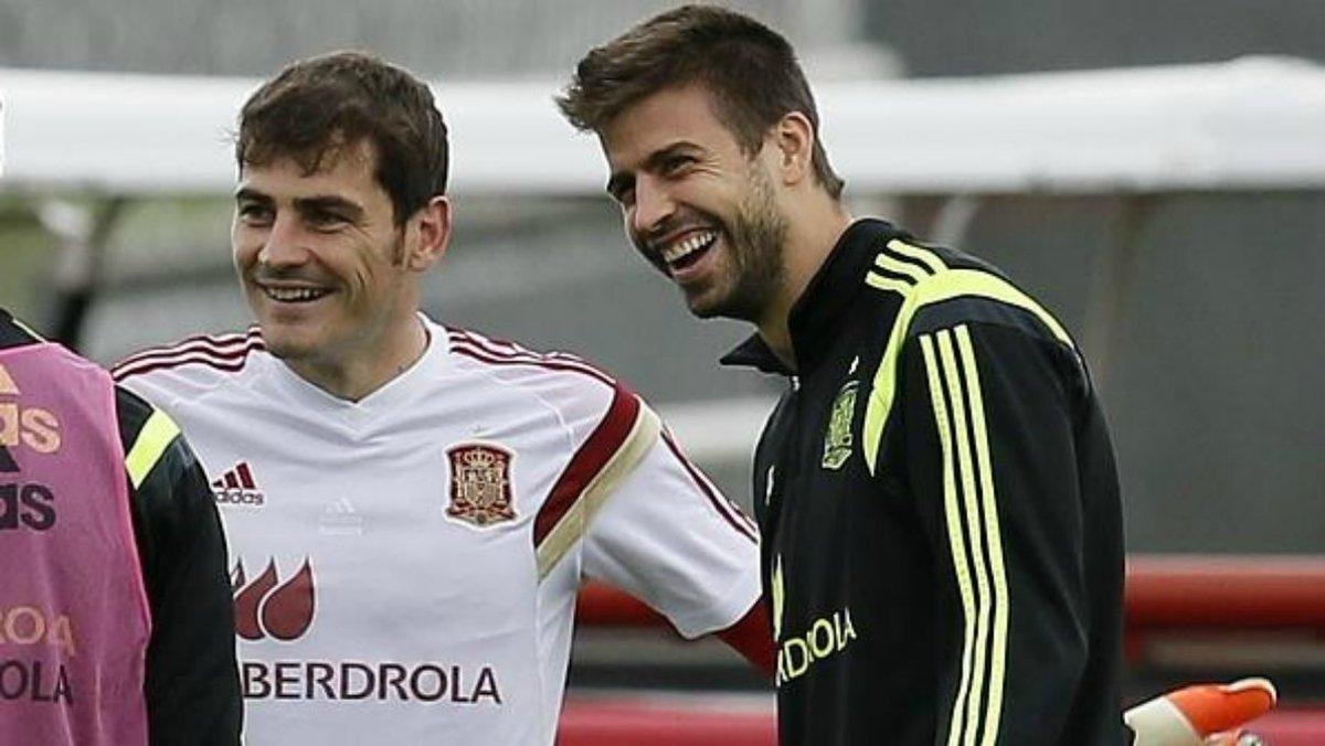 Iker Casillas se alía con Piqué para 'atizar' a un tertuliano de 'El Chiringuito'  https://t.co/XQSmrcO6MX  #RealMadrid #FCBarcelona #LaLigaSantander https://t.co/c5f7LVakhh