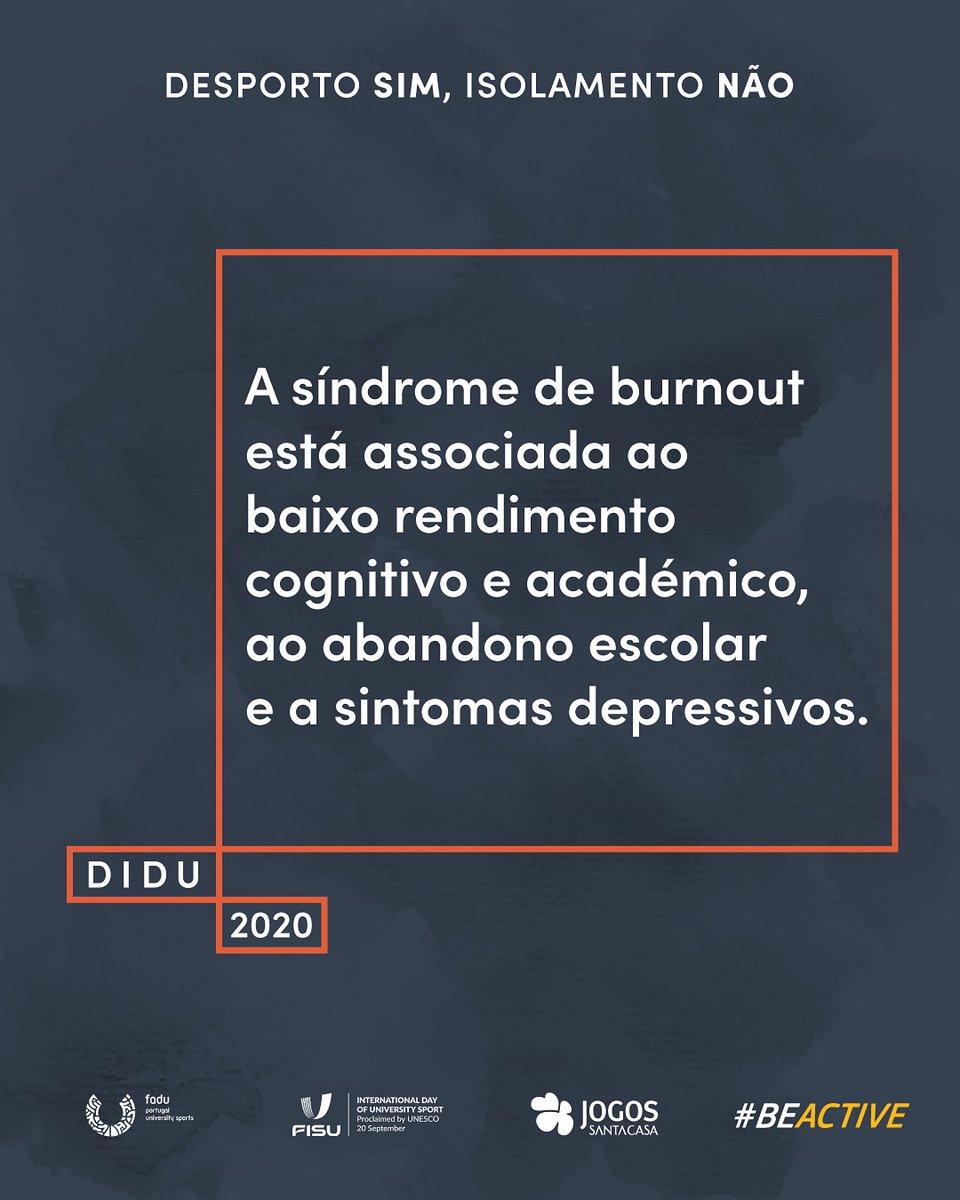 Está atento aos sinais e procura a ajuda de especialistas. A saúde mental não é um problema menor.   ➡️ Dia Internacional do Desporto Universitário - 20/09  ➡️ Semana Europeia do Desporto -23/09-30/09  #DIDU2020 #IDUS2020 #LETSIDUS #BeActive https://t.co/TUu01P1yMy