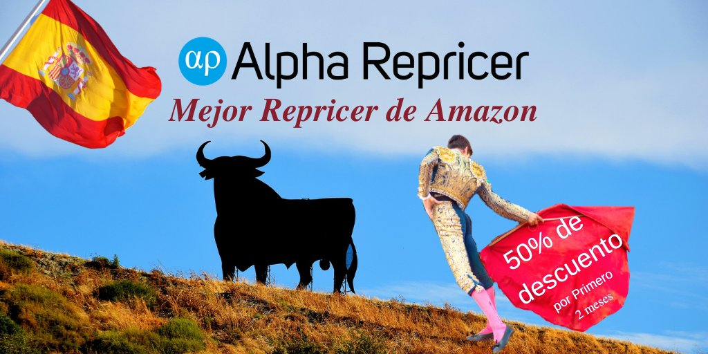 Best #Amazon repricer is Alpha Repricer. Increase sales. Sign up and get 50% off first 2 months  https://t.co/L9k2Dx1xyy  #Amazonfba #Amazonsellers #AlphaRepricer #fbaseller #repricing #fba #amazonfbaseller #sellingonamazon #Spain #madrid #barcelona #seville #amazonspain https://t.co/CGaCeeEb2H