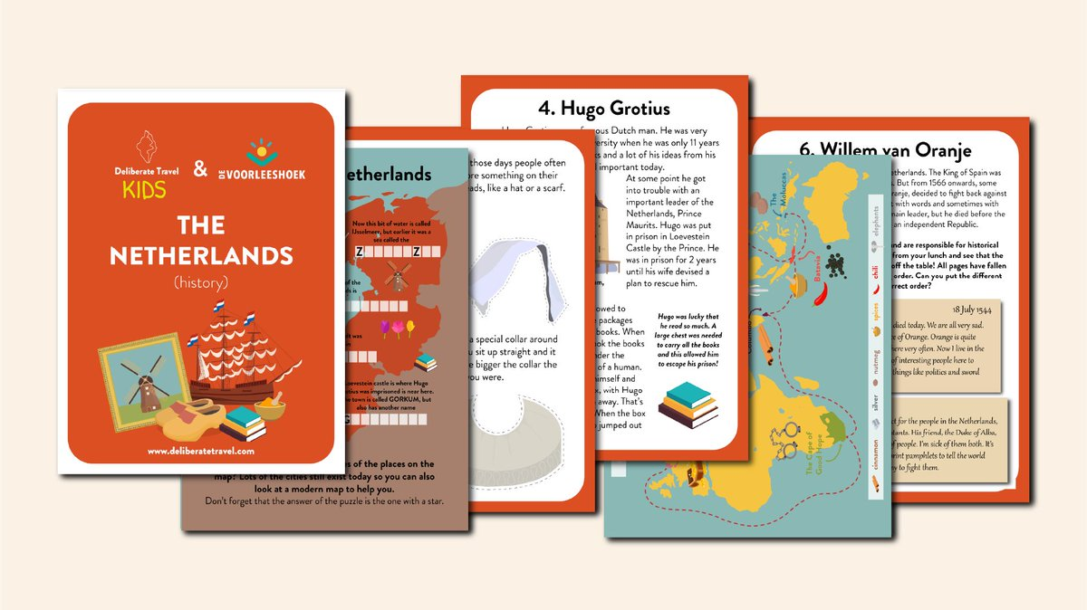 Who wants to learn about #Dutch history? We do! Which is lucky because we've just released our new workbook all about the history of #TheNetherlands!   For kids aged 7-12, free to download at https://t.co/51RiFKPUct  #history #learnhistory #dutchhistory #kids #kidsbooks https://t.co/IqX4PXkaql