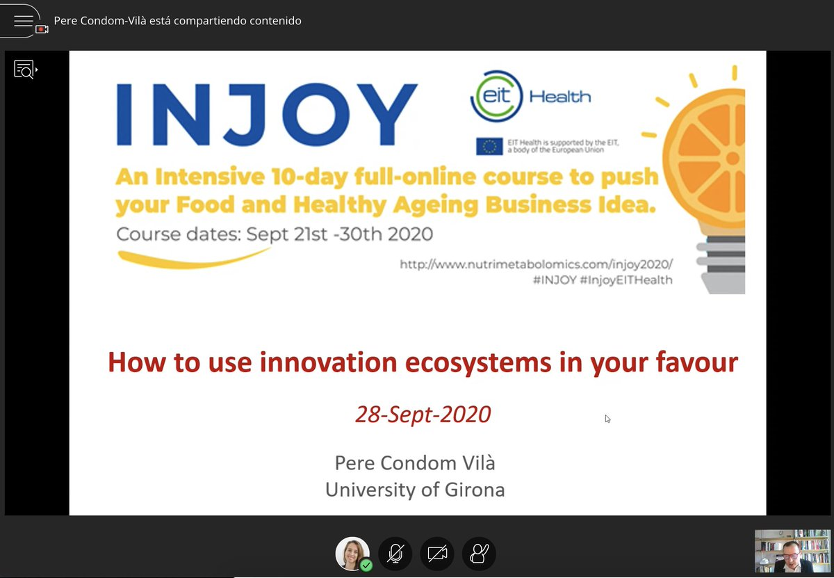 Do you know what is an #innovationecosystem? Do you know what is a technology-based company? Did you know that #Barcelona is one of the best cities to found a start-up? Now, @PereCondom from Universitat de Girona cc @UdGCiencies #INJOYEITHealth https://t.co/Nd0JODmsl6