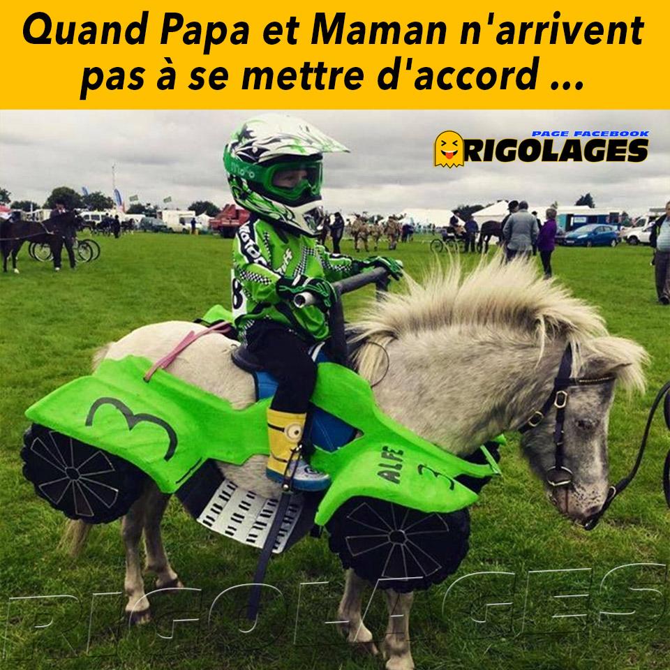 #humour #rigolages #enfants #enfant #poney #cheval #moto #papa #maman https://t.co/uRU1t9ZCA5