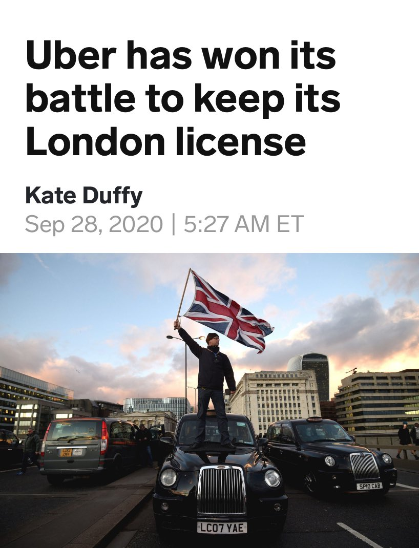 "Some say  The legality Circus 🎪 around UBERS relicense has shown the U.K judiciary up for what it is not fit for purpose 28,000 safety related complaints in less than 6mths & they regain a license   ""To big to fail"" regulatory public safety legislation is officially non-existent https://t.co/ybNKqLNQh5"