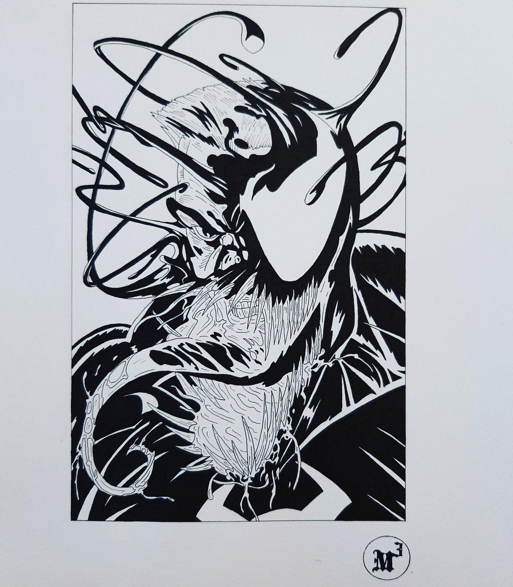 Venom Fan Art  #sketch #sketchbook #draw #drawing #dibujo #pen #ink #pencil #art #arte #artista #artwork #artist #artsy #black #blackwork #blackandwhite #fanart #marveluniverse #marvel #venom #hero #comic #barcelona #catalunya https://t.co/4CwZO9qthh